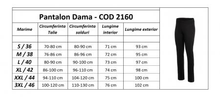 Pantalon Damă LAZO SIMPLE STYLE Bleumarin [4]
