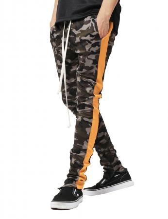 Pantaloni Bărbătești LAZO CAMOUFLAGE TRACK PANTS, Orange0
