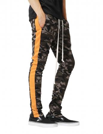 Pantaloni Bărbătești LAZO CAMOUFLAGE TRACK PANTS, Orange1
