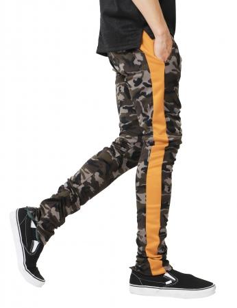 Pantaloni Bărbătești LAZO CAMOUFLAGE TRACK PANTS, Orange2