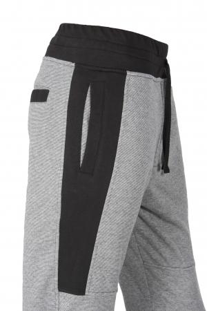 Pantalon Bărbați LAZO TRACK PANTS GNJ Gri cu Negru3