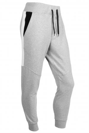 Pantaloni barbati - Gri cu negru2