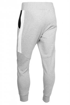 Pantaloni barbati - Gri cu negru1