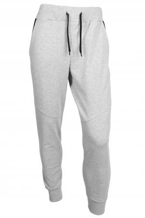 Pantaloni barbati - Gri cu negru3