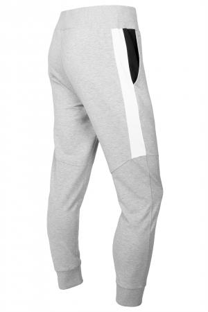 Pantaloni barbati - Gri cu negru0