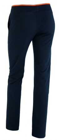 Pantalon bleumarin cu portocaliu [2]