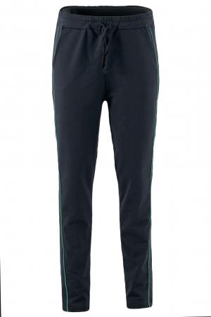 Pantaloni damă, LAZO LINE, Negru cu verde1