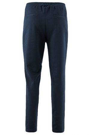 Pantaloni damă, LAZO LINE, Bleumarin cu rosu2