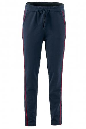Pantaloni damă, LAZO LINE, Bleumarin cu rosu1