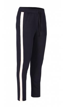 Pantaloni Damă LAZO LINE, Bleumarin cu Roz pal0