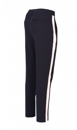 Pantaloni Damă LAZO LINE, Bleumarin cu Roz pal1