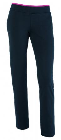 Pantaloni damă, LAZO bleumarin cu ciclam1