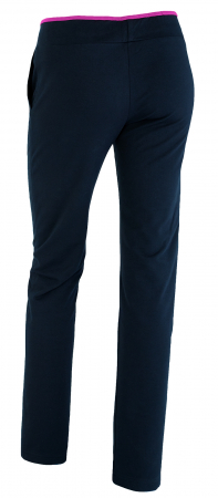 Pantaloni damă, LAZO bleumarin cu ciclam2