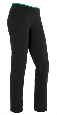 Pantaloni damă, LAZO Negru cu verde2