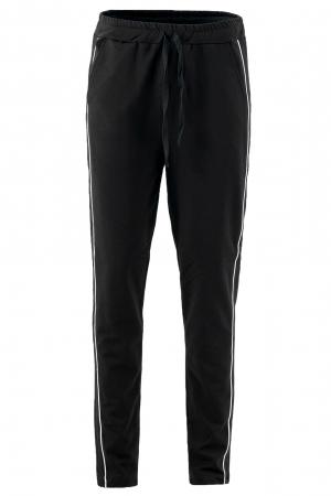Pantaloni damă, LAZO LINE, Bleumarin cu alb0