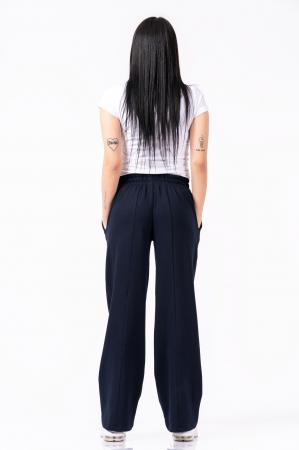 Pantaloni largi, design uni, culoare negru [1]