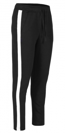 Pantaloni Dama LAZO AIR LINE, Negru cu Alb0