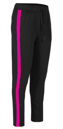 Pantaloni Dama LAZO LINE, Negru cu ciclam0