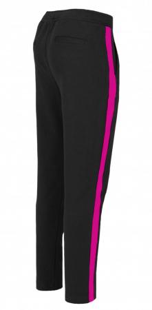 Pantaloni Dama LAZO LINE, Negru cu ciclam1