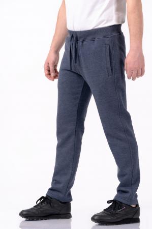 Pantaloni sport din bumbac - Albastru prafuit [1]