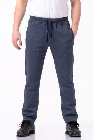 Pantaloni sport din bumbac - Albastru prafuit [0]