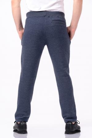 Pantaloni sport din bumbac - Albastru prafuit [2]