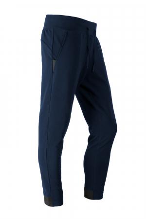 Pantalon casual - Bumbac bleumarin [0]