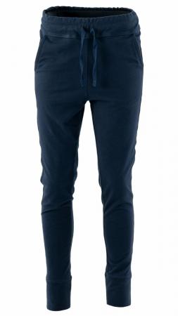Pantaloni sport cu tur, Kara, bumbac, bleumarin1