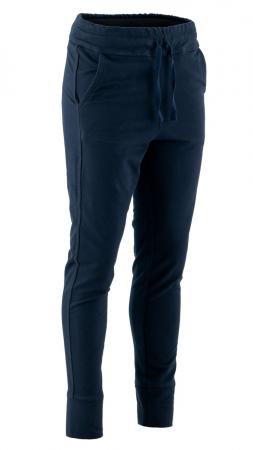 Pantaloni sport cu tur, Kara, bumbac, bleumarin0