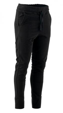 Pantaloni sport cu tur, Kara, bumbac, negru0