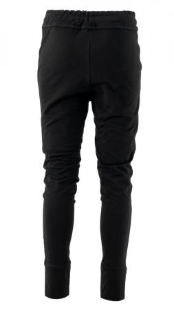 Pantaloni sport cu tur, Kara, bumbac, negru1