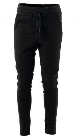 Pantaloni sport cu tur, Kara, bumbac, negru2