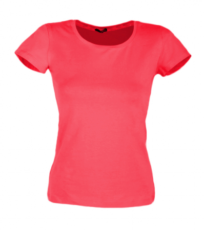 Tricou de dama, simplu din bumbac, corai1
