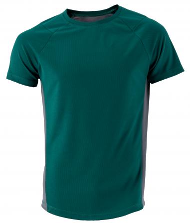 Tricou lejer pentru fitness, verde inchis cu gri0