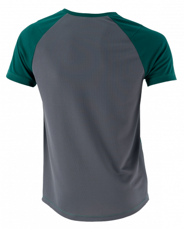 Tricou lejer pentru fitness, verde inchis cu gri1