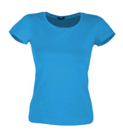 Tricou uni bleu dama [1]