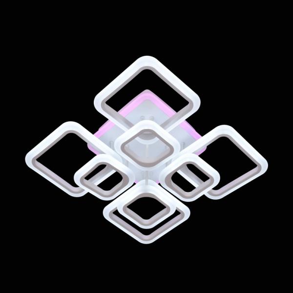 Lustra LED NEW Square Design, SLC, Patrata 8 cu Telecomanda [3]