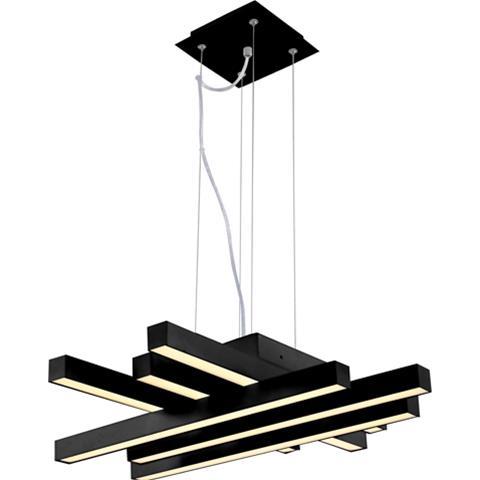 Lustra LED 6 Surse SLC Asfor Black, 50W [0]