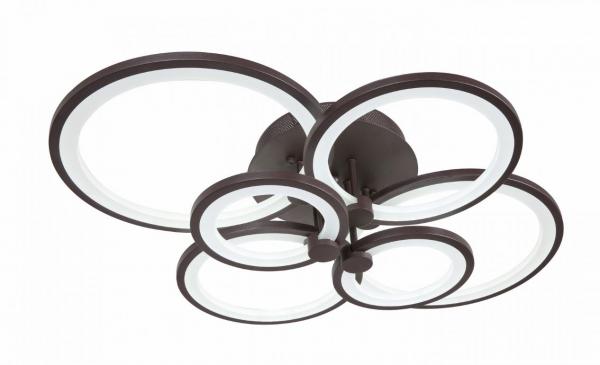 Lustra LED Circle Design, SLC, Dreptunghiulara 6 Coffee cu telecomanda [0]