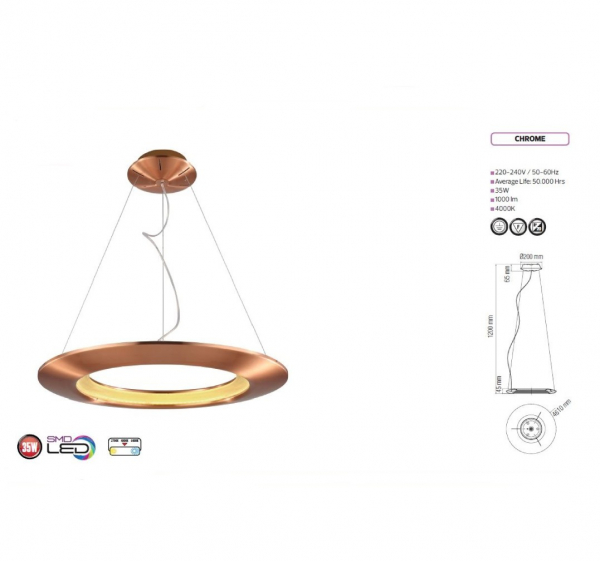Lustra Led Circle Design [0]