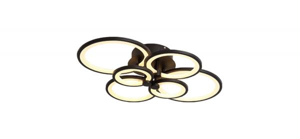 Lustra LED Circle Design, SLC, Dreptunghiulara 6 Coffee cu telecomanda [3]