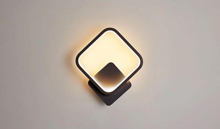 Aplica perete LED Square Design Neagra [0]
