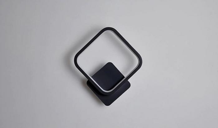 Aplica perete LED Square Design Neagra [5]
