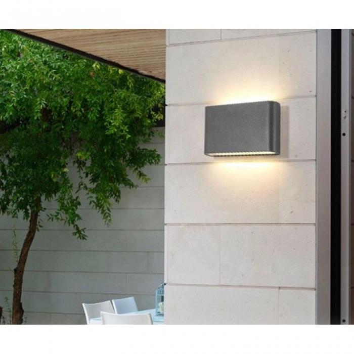 Aplica perete exterior 6 W slim mica [0]