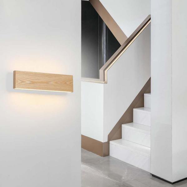 Aplica led perete lemn slim townhall 32 CM [2]