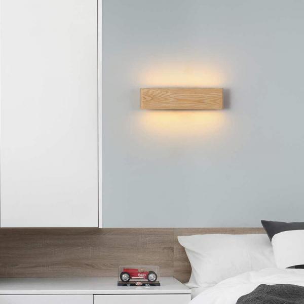 Aplica led perete lemn slim townhall 32 CM [0]