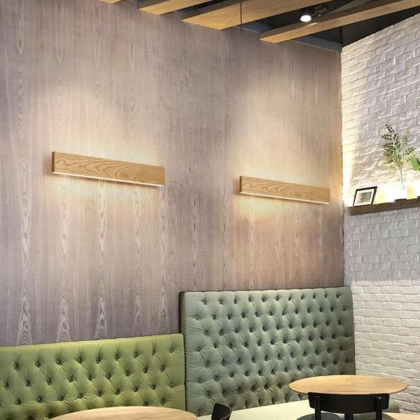 Aplica led perete lemn slim townhall 52 CM [1]