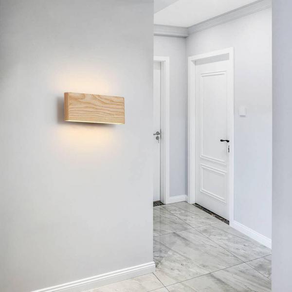 Aplica led perete lemn slim townhall [1]
