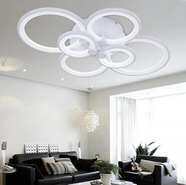 Lustra led circle design dreptunghiulara 6 cercuri SLC [2]