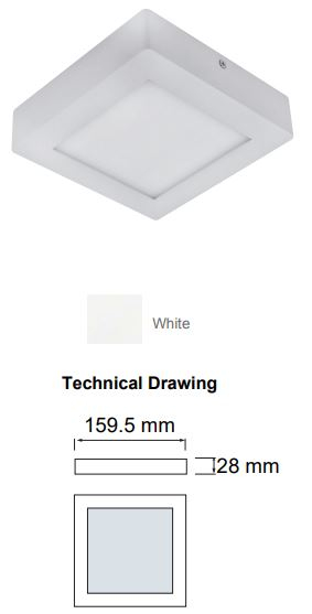 Spot LED, aluminiu, 840 lumeni, incastrat, SLC Modern 12W [3]